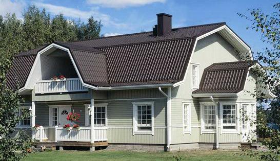вид ломанной щипцовой крыши