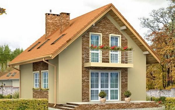 вид двускатной крыши