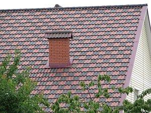 Проходной узел дымохода через крышу