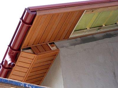 Вынос крыши от стены