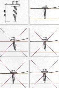 Как правильно прикручивать металлочерепицу