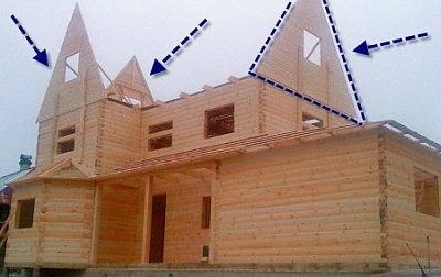 Крыша с тремя фронтонами своими руками 2