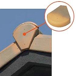 Крепление торцевой планки металлочерепицы