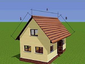 Как рассчитать площадь крыши дома