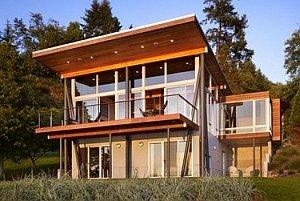 проект частного дома с односкатной крышей