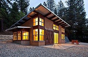 пример проекта дома с односкатной крышей