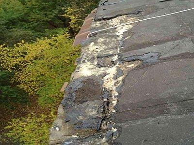сгнивший рубероид на крыше