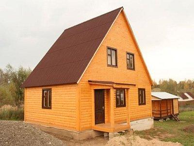 двускатная крыша с жилой мансардой