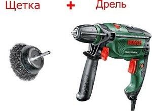 дрель и щетка для механической очистки