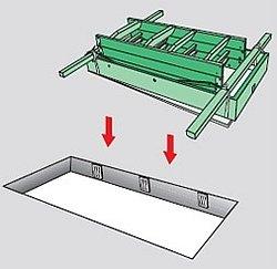 монтажные доски для фиксации на рамке