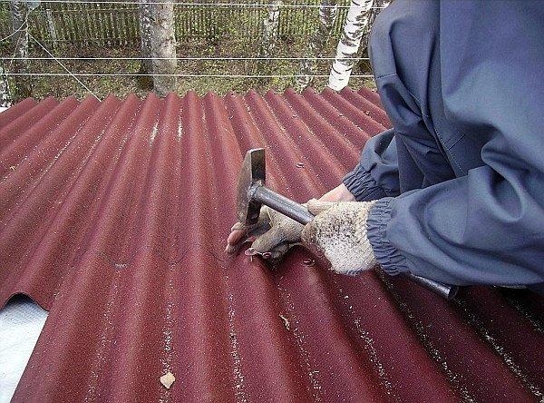 установка ондулина на крышу