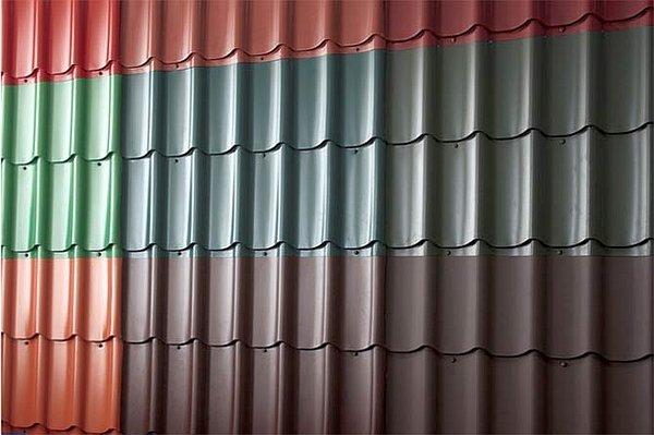 цвета листов металлочерепицы