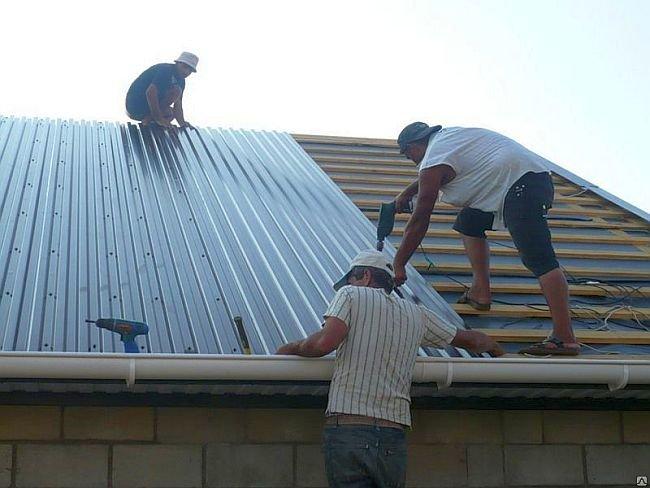 Размеры профлиста для крыши длина и ширина